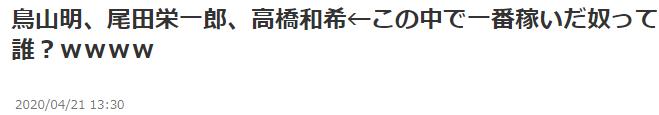 你怎么看?日本网友热议JUMP三巨头高桥鸟山尾田谁更能敛财
