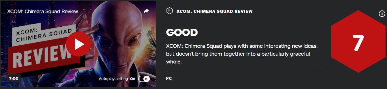 《幽浮:奇美拉战队》IGN7分:大胆改进游戏机制