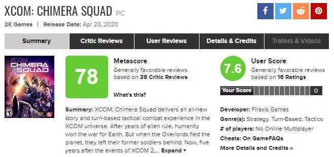 《幽浮:奇美拉戰隊》IGN 7分:大膽改進游戲機制
