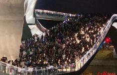 成都新晉網紅橋人山人海現場圖太可怕 成都新晉網紅橋在哪里?