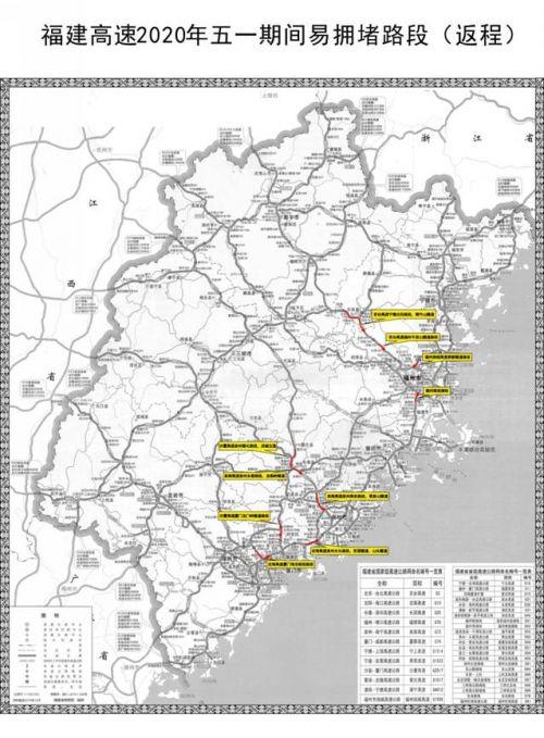 福建交警發布2020年五一節假期全省高速交通安全出行提示