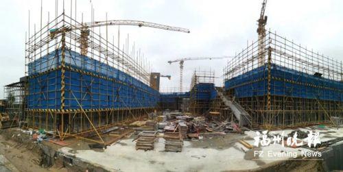 福州滨海新城那迪广场进入装配式建筑施工阶段