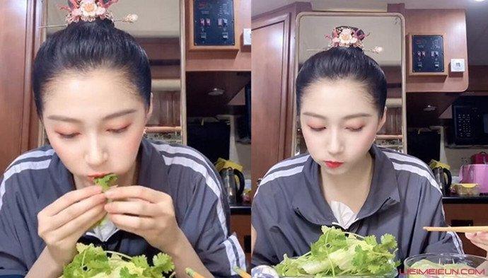 关晓彤同款生菜卷香菜 网友感叹果然瘦不是没有理由的