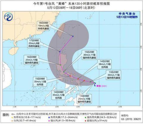台风黄蜂热带风暴怎么回事?1号台风黄蜂路劲曝光对中国有影响吗