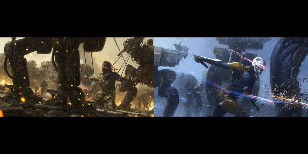 《合金装备》真人版电影概念设定图 巨型机甲气势足