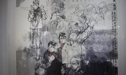 福建省抗擊疫情書畫攝影視聽作品展開幕 展出419件作品