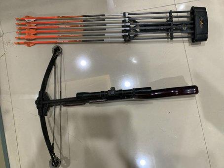 网淘弓弩器具也属违法行为 莆田一男子被调查