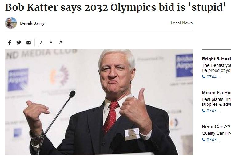澳申办奥运遭议员炮轰:疫情后花数十亿干这事