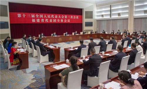 十三屆全國人大三次會議福建代表團成立