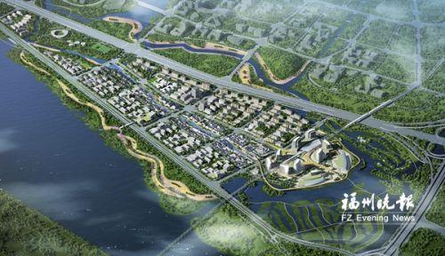 帝封江规划片区鸟瞰图。