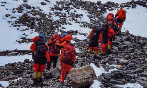 2020珠峰高程測量登山隊沖頂組再出發