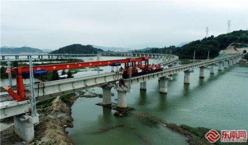 寧德汽車基地鐵路專用線主體工程完工