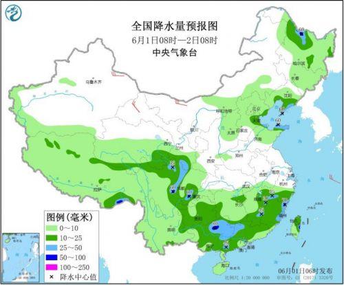 华南等地有较强降水 华北等地有强对流天气