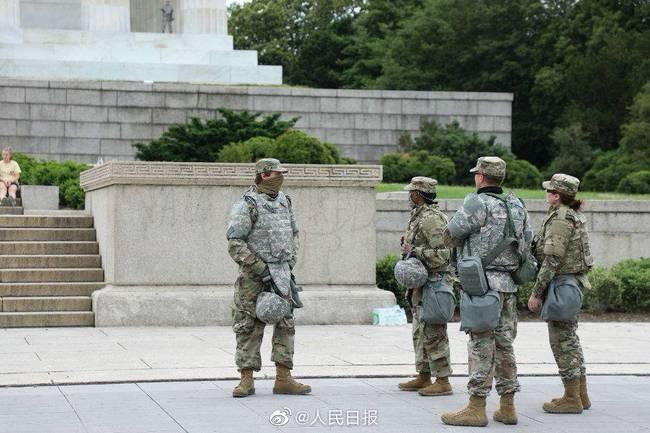 白宫周围数个街区被军队警察封锁