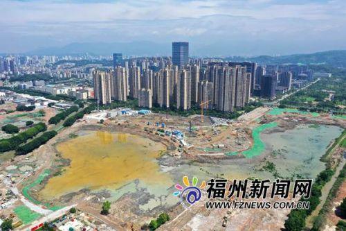 """福州晋安湖湖体开挖过半 """"大肚""""能容片区涝水"""
