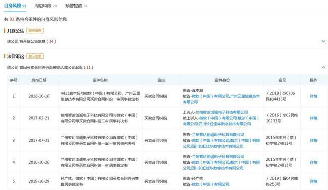 微软中国被列为被执行人,有点纠纷实属正常合理解决即可