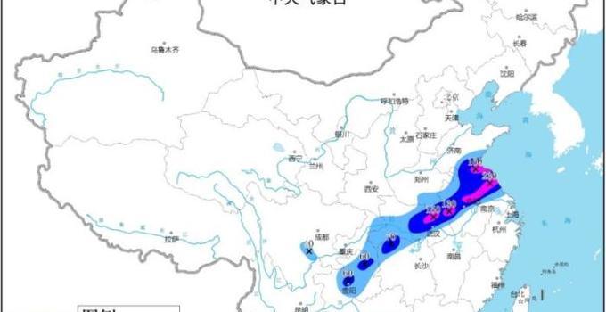 西√南地�^�|部至�S淮江淮等地有��降雨 �A@北�|北多�雨