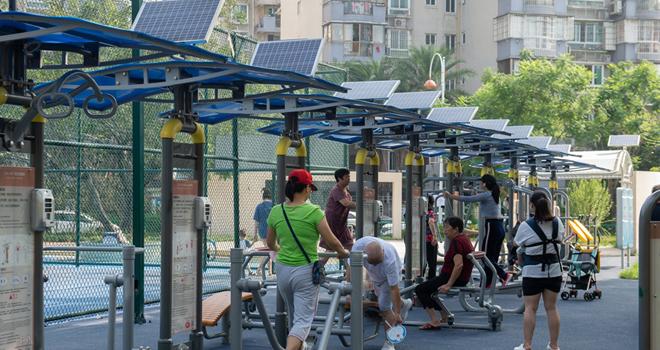 福州臺江區智慧體育公園正式開放 掃碼連接器材可記錄運動數據