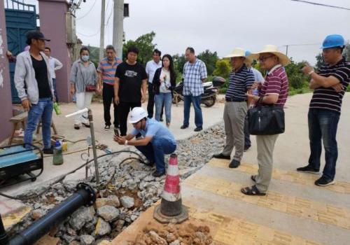 通水又近了!福清高山2个村一次性通过管道试压验收