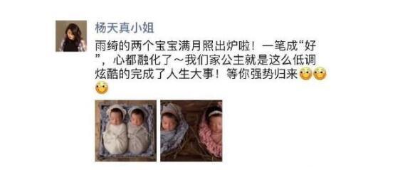 张雨绮有一对双胞胎孩子是谁的 张雨绮双胞胎孩子几岁了长什么样子