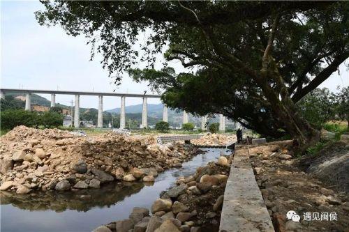 闽侯小箬中平溪河道整治项目进展顺利