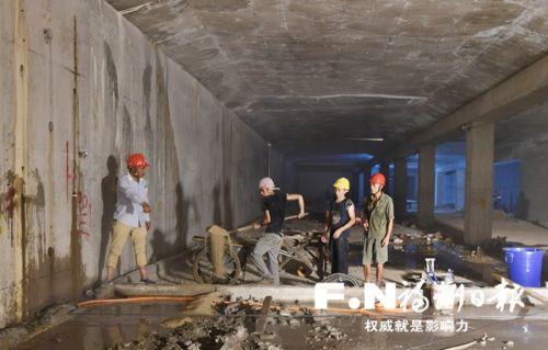 """福州火车站南北广场实现地下""""一线牵"""" 全新通道9月启用"""