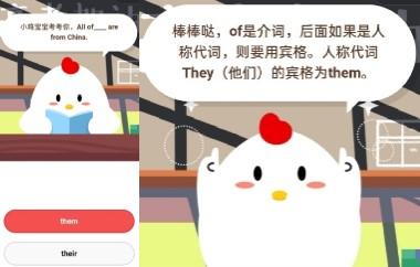蚂蚁庄园今日答题答案7月6日 All of____are from China?