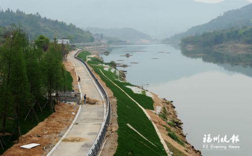 正在建设中的永泰沿溪自行车道