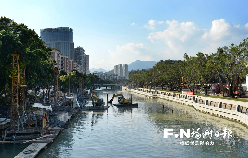 福州鼓台片区7条内河完成清淤 城区水系治理成效显著